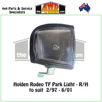 Holden Rodeo TF Front Park Light - R/H