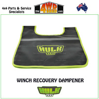 HULK 4x4 WINCH RECOVERY DAMPENER PVC BLACK W/SILVER TAPE AND POCKET