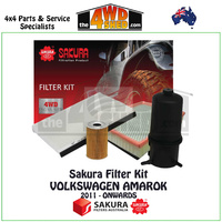 SAKURA FILTER KIT VOLKSWAGEN AMAROK 2011 - Onwards
