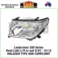 Landcruiser 200 Series - Halogen Type Headlight L/H