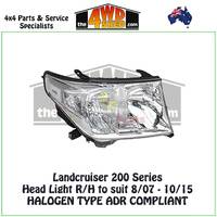 Landcruiser 200 Series - Halogen Type Headlight R/H