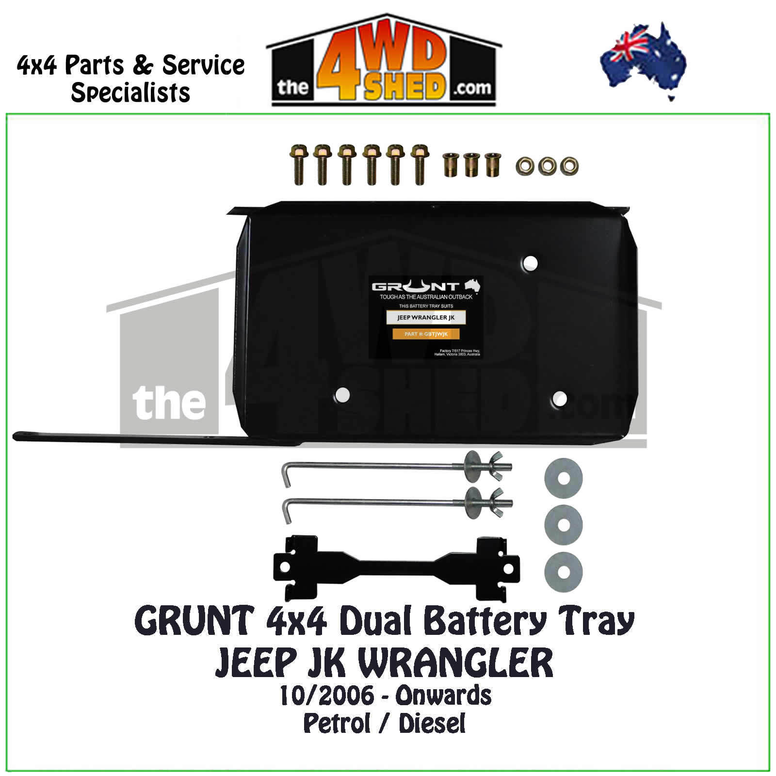Jeep Jk Wrangler Dual Battery Tray Grunt 4x4 Wiring