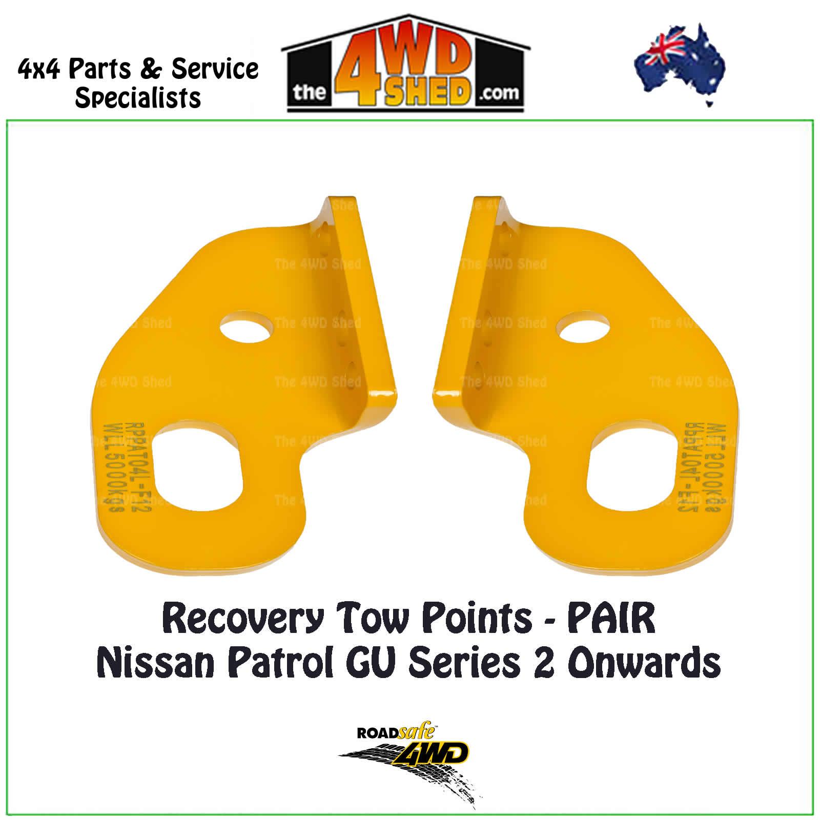 Recovery Tow Points PAIR Nissan Patrol GU Y61 Series 2 Onwards