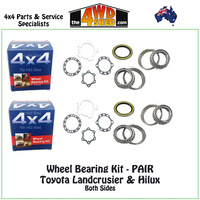 Toyota Front / Rear Wheel Bearing Kit PAIR
