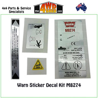 Warn 38307 - Sticker Decal Sticker Set M8274