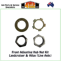 Front Adjusting Hub Nut Kit Landcruiser & Hilux (Live Axle)