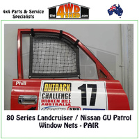 Window Nets (Pair) -Toyota 80 Series