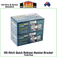 HD Hitch Quick Release Awning Bracket - Triple Kit