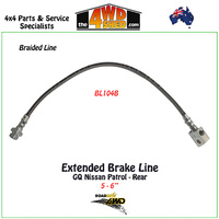 Braided Extended Brake Line Nissan Patrol GQ Rear