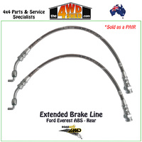 Braided Extended Brake Line Ford Everest ABS Rear