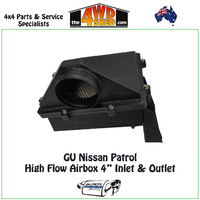 "GU Nissan Patrol High Flow Airbox 4"" Inlet & Outlet"