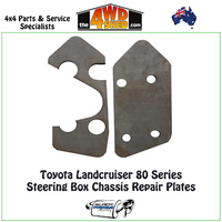80 & 105 Series Steering Box Chassis Repair Plates
