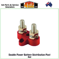 M6 Double Power Battery Post Red