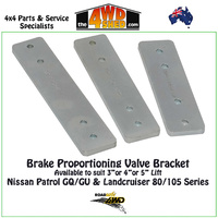 "Brake Proportioning Valve Bracket suits 4"" Lift"