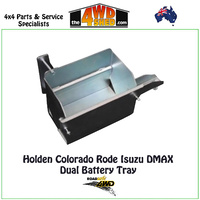 Dual Battery Tray Holden Colorado Rodeo DMAX Chassis Mount