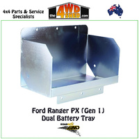 Dual Battery Tray Ford Ranger PX (Gen 1) Tub Mount