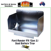 Dual Battery Tray Ford Ranger PX (Gen 2) Tub Mount