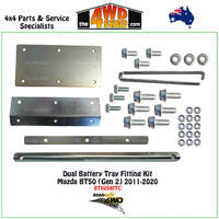 Dual Battery Tray Fitting Kit Only Mazda BT50 (Gen 2)