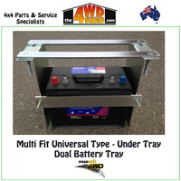 Dual Battery Tray Multi Fit Universal Type Under Tray