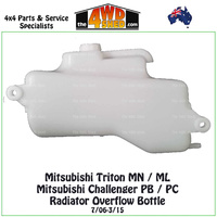 Mitsubishi Triton ML MN & Challenger PB PC Radiator Overflow Bottle