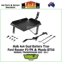 Hulk 4x4 Dual Battery Tray - Ford Ranger PJ/PK & Mazda BT50