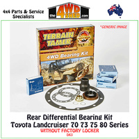Differential Bearing Kit Toyota 70 75 80 Series Landcruiser Rear - DK3