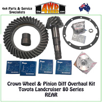 Crown Wheel and Pinion Rear Diff Overhaul Kit 80 Series Toyota Landcruiser