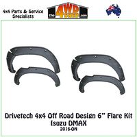 "Drivetech 4x4 Off Road Design 6"" Flare Kit Isuzu DMAX"