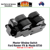 Window Master Switch Control Ford Ranger PX Mazda BT50