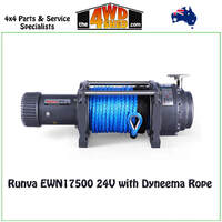 Runva EWN17500 24V with Dyneema Rope