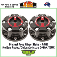 Hulk Free Wheel Hubs PAIR - Holden Colorado Rodeo DMAX