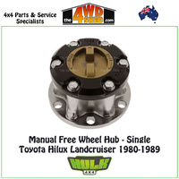 Hulk Free Wheel Hub Single Only - Toyota Hilux Landcruiser 1980-1989