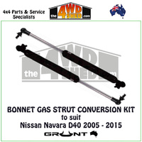Bonnet Gas Strut Conversion Kit Nissan Navara D40 2005-2015