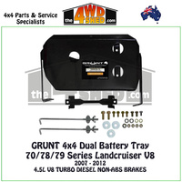 70 78 79 Series Landcruiser V8 4.5l Diesel Non-ABS - Dual Battery Tray