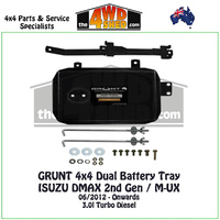 ISUZU DMAX 2nd Gen / M-UX - Dual Battery Tray