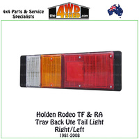 Holden Rodeo TF & RA Tray Back Tail Light L/R