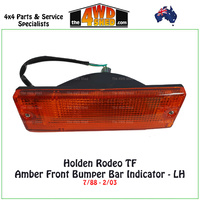 Holden Rodeo TF Front Bumper Bar Amber Indicator - Left