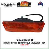 Holden Rodeo TF Front Bumper Bar Amber Indicator - Right