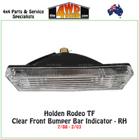 Holden Rodeo TF Front Bumper Bar Clear Indicator - Right