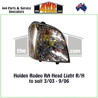 Holden Rodeo RA Head Light - R/H