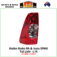 Holden Rodeo RA & Isuzu DMAX Tail Light LH