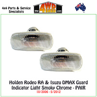 Holden Rodeo RA & Isuzu DMAX Guard Indicators Smoky Chrome PAIR