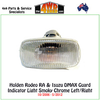 Holden Rodeo RA & Isuzu DMAX Guard Indicator Light Smoky Chrome