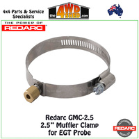 "Redarc GMC-2.5 2.5"" Muffler Clamp for EGT Probe"