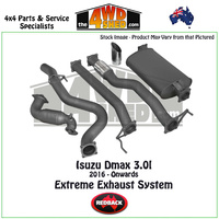 Isuzu DMAX 3.0l 2016 - Onwards Redback Exhaust System