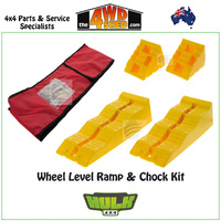 Wheel Level Ramp & Chock Kit with Storage Bag