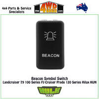 Beacon Switch 12V AMBER Toyota 100 Series, 79 Series, Prado 120 Series, Hilux KUN, FJ Cruiser