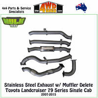 Stainless Steel Exhaust Kit Toyota Landcruiser 79 Series Single Cab Non-DPF