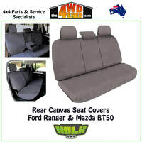 Canvas Seat Covers Ford Ranger Mazda BT50 - Rear