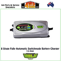 8 Stage Fully Automatic Switchmode Battery Charger 7.5 Amp 12-24V